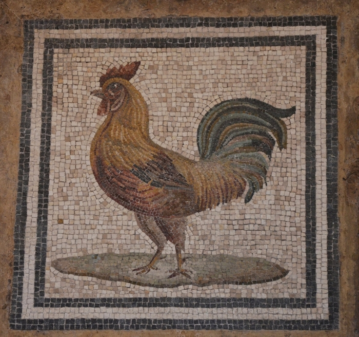 Polychrome_mosaic_depicting_a_rooster,_unknown_origin,_National_Museum_of_Rome,_Baths_of_Diocletian_(13330743125).jpg