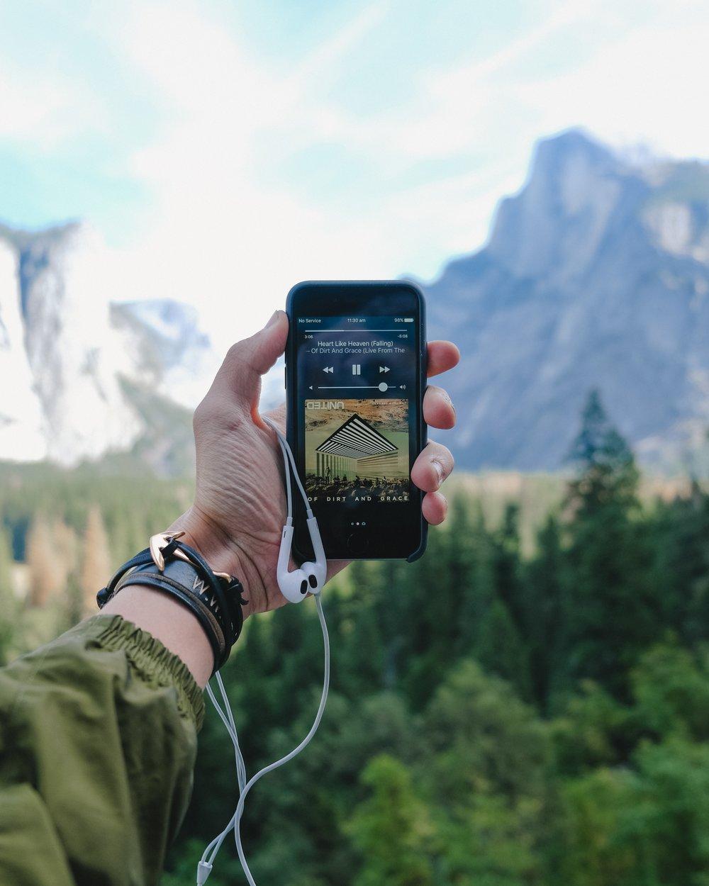 Phone, earphones, mountain © Leio McLaren.jpg