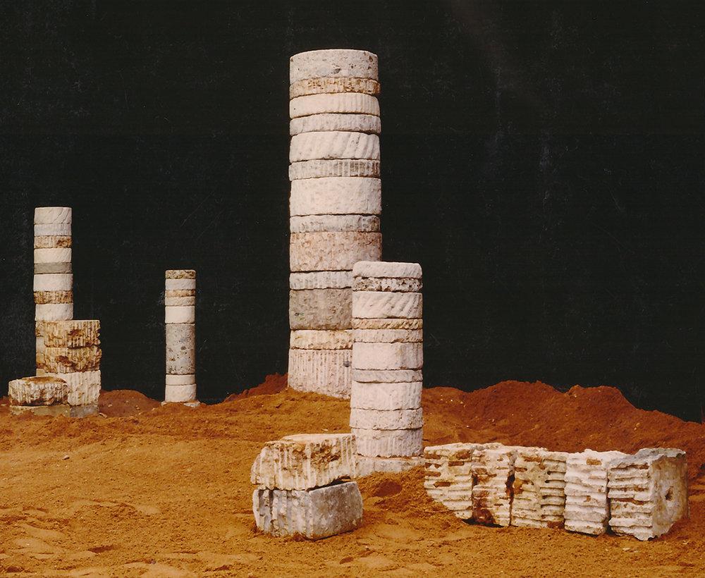 Stonesteles  1984-91 - 20 x 95 cm bis 50 x 210 cm