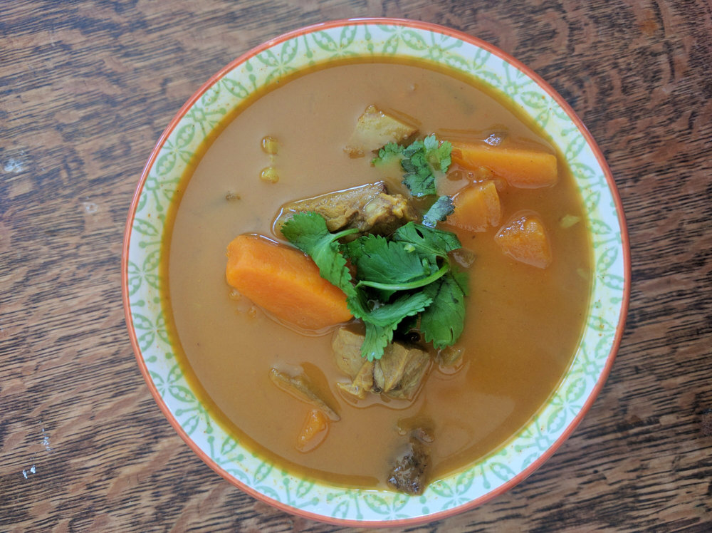 sweetpotato, coconut, curry, soup