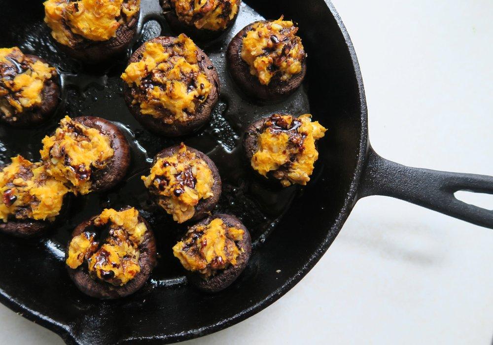 stuffed mushrooms, Lake Superior kitchen, Duluth food, appetizer recipe