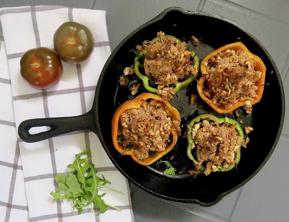 tuna stuffed peppers, whole30, paleo, Lake Superior kitchen, Duluth food