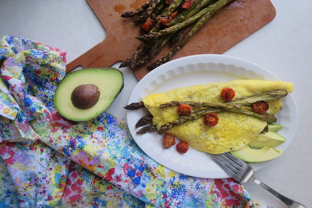 Lake Superior kitchen, duluth food, detox, asparagus, omelette, healthy breakfast