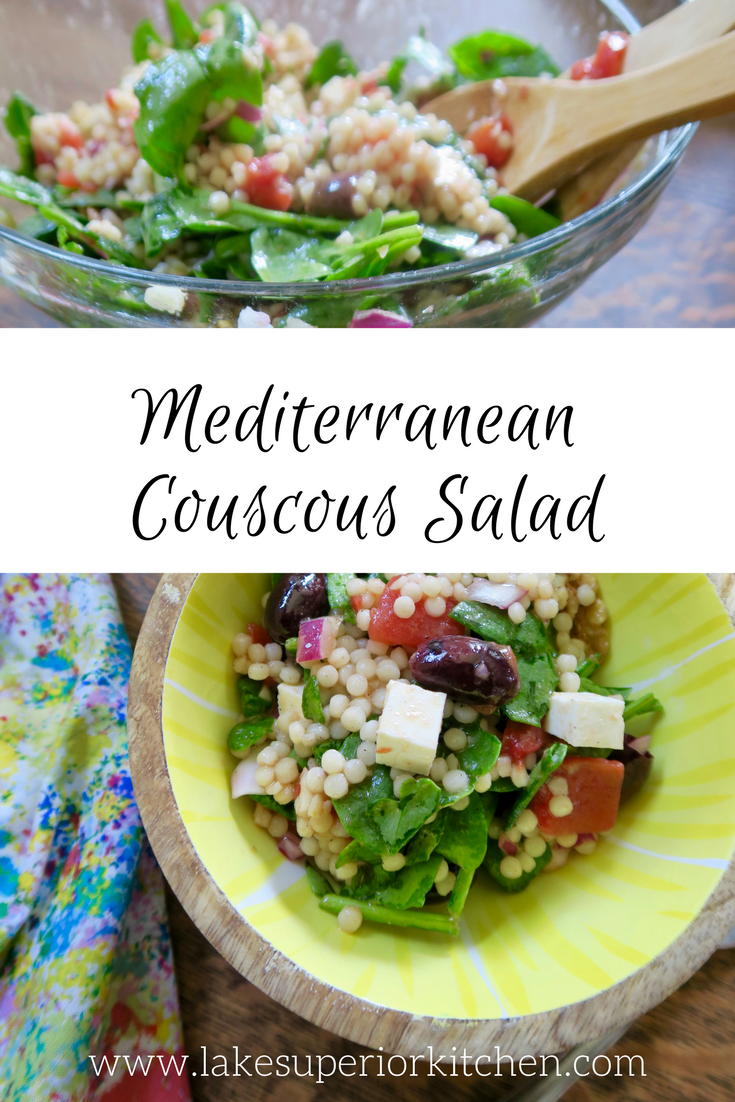 Mediterranean Couscous Salad, Lake Superior Kitchen, Salad recipes
