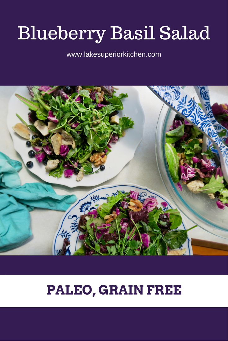 Blueberry Basil Salad, Lake Superior Kitchen, Paleo, Grain Free