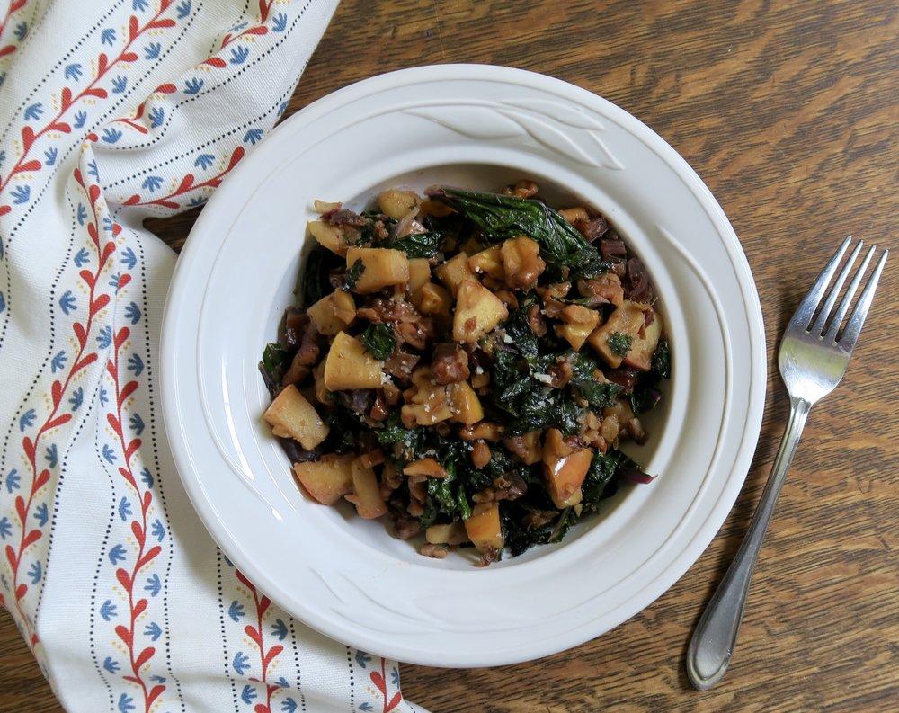 Warm Walnut & Kale Salad, Lake Superior Kitchen, Whole30, Paleo, Grain Free