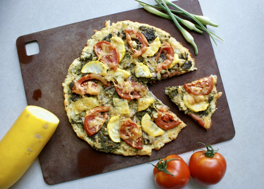 Cauliflower Pizza Crust, Farmers Market Pizza, Lake Superior Kitchen, Grain Free