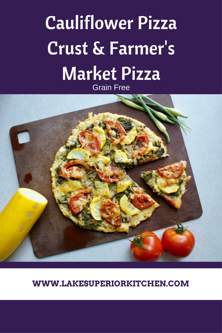 Cauliflower Pizza Crust, Lake Superior Kitchen, Grain Free