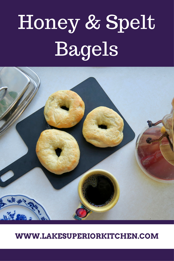 Spelt & Honey Bagels, Lake Superior Kitchen, Duluth food, bagel recipe