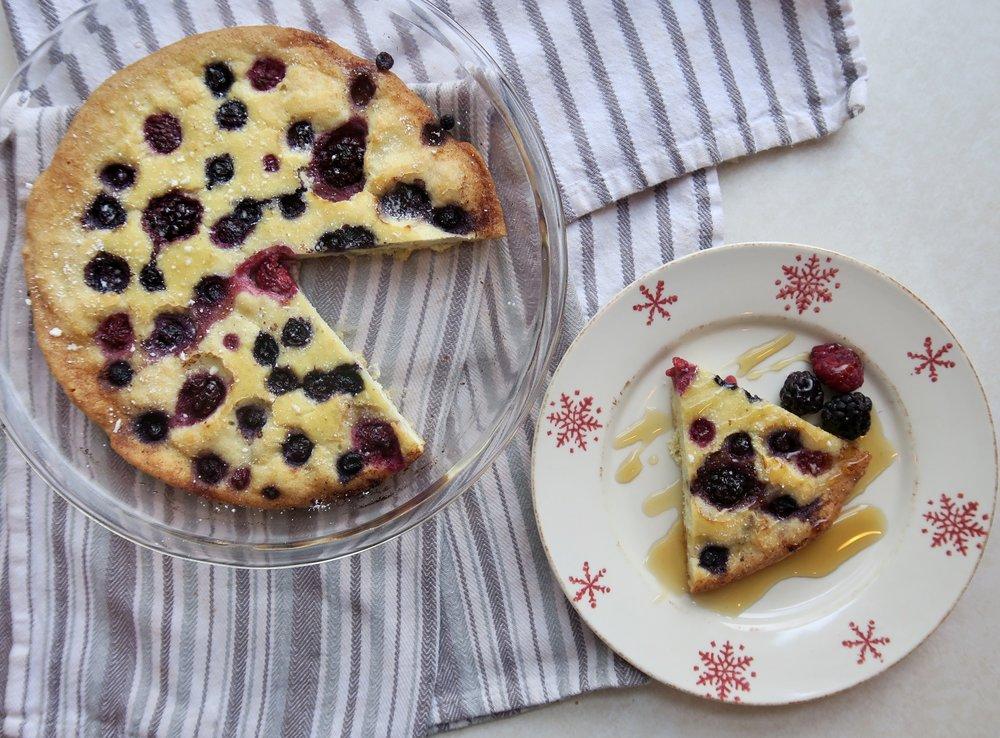 Baked Berry Pancake, Lake Superior Kitchen, Paleo, Grain Free, Dairy Free, breakfast
