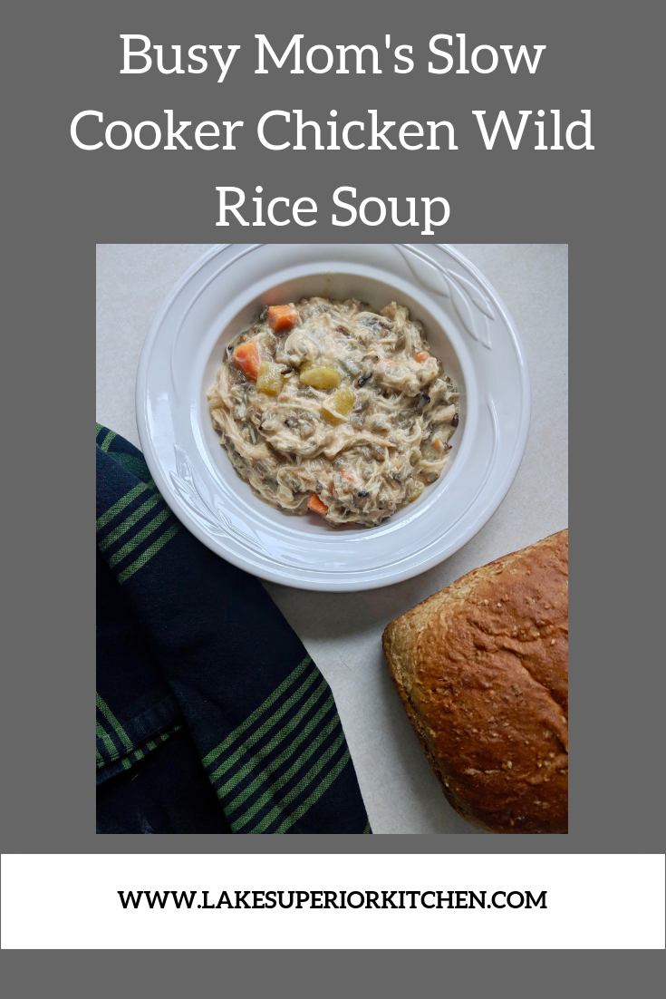 Slow Cooker Chicken Wild Rice Soup, Crockpot chicken wild rice soup, Lake Superior Kitchen, Crockpot recipes, soup slow cooker