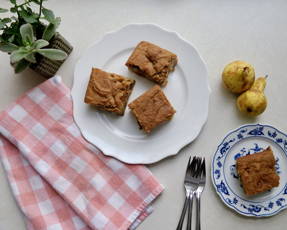Paleo spiced pear cake, lake superior kitchen, paleo dessert, grain free, sugar free