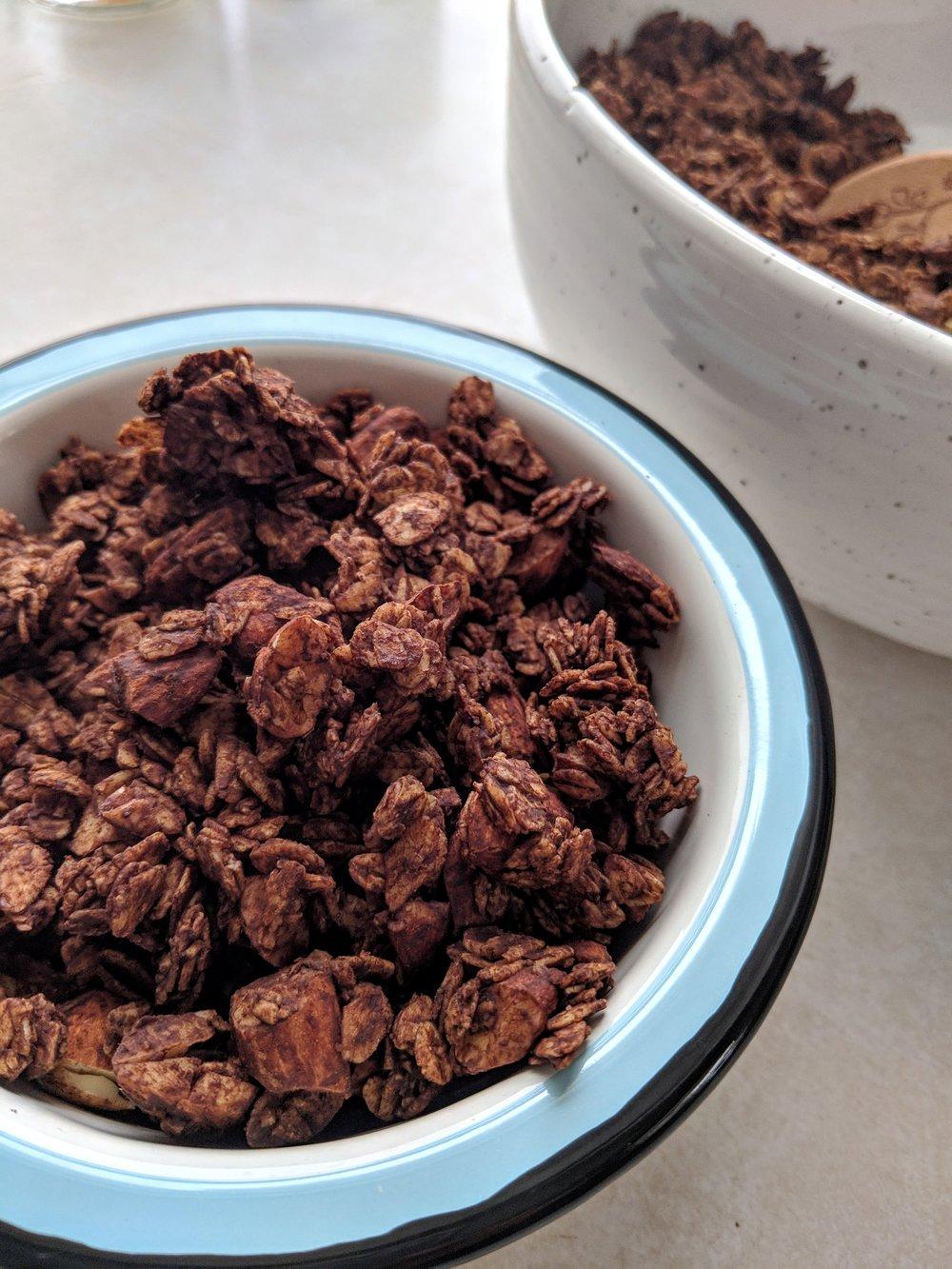 Chocolate Almond Granola, Lake Superior Kitchen