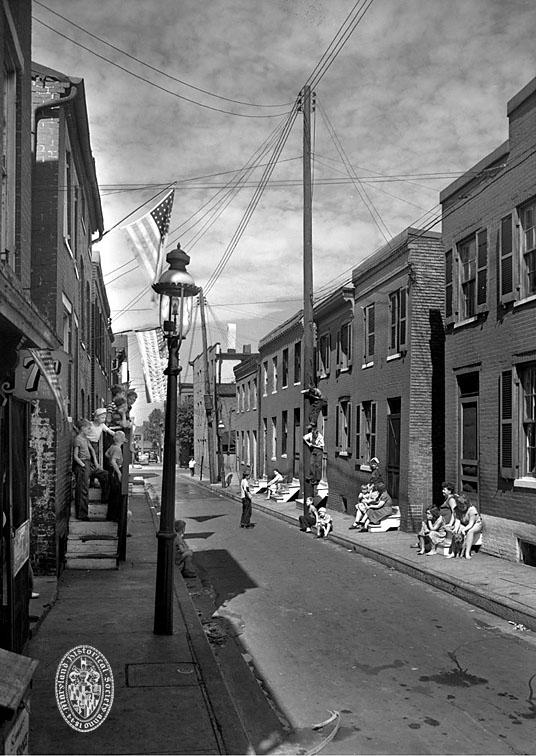 Stoop Sitting, Baltimore, Maryland, circa 1930 Photograph by A. Aubrey Bodine (1906-1970) Baltimore City Life Museum Collection, Maryland Historical Society