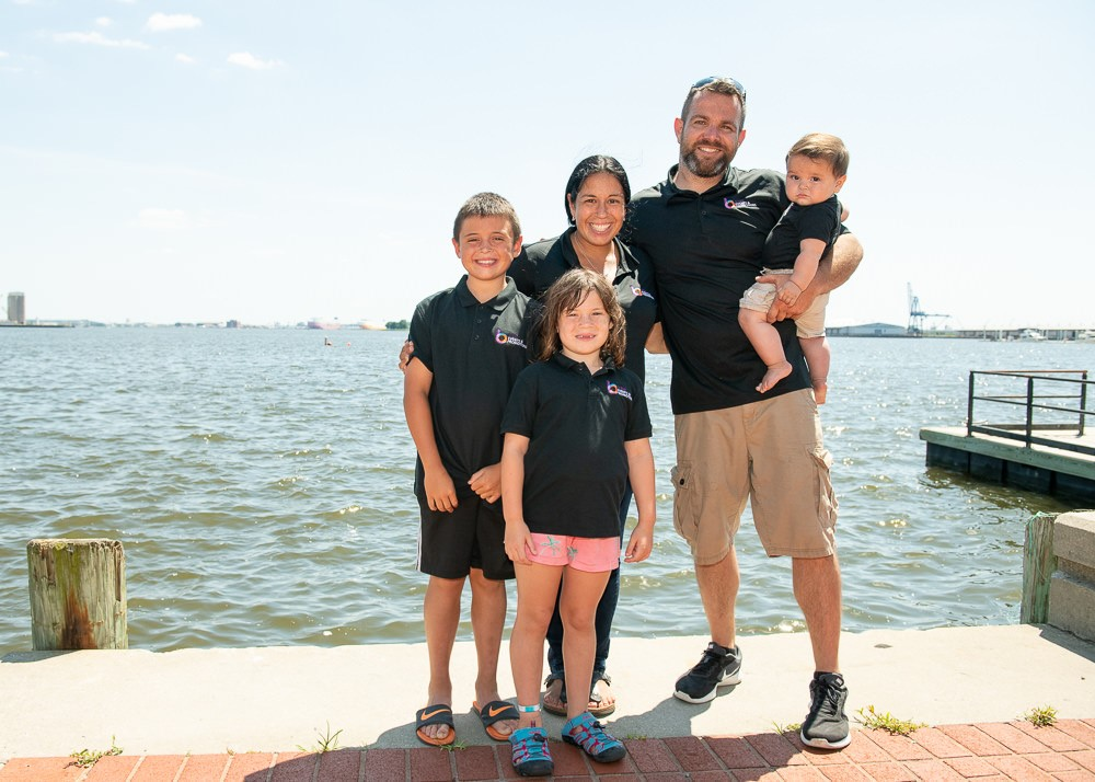 Beth Merchant and her family, enjoying Canton's Waterfront