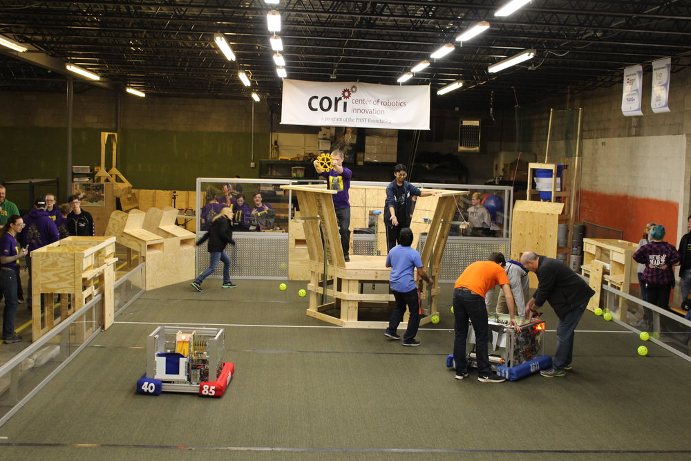 Scrimmage - 18 teams came to the PAST Foundation to attend a mock competition on a full field, held by the Metrobots.