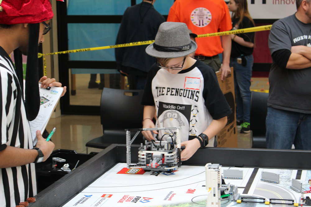 FLL Tournament - The Metrobots holds an annual FLL Regional. Where around 20 FLL teams come to compete with their lego robots.