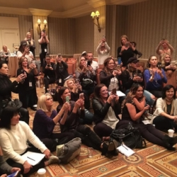 Lots of interest for katie quinn's contouring demo at sunless summit 2017!