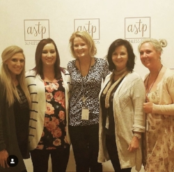 The North carolina contingent with featured speaker, katie quinn of kona tans, at sunless summit 2017