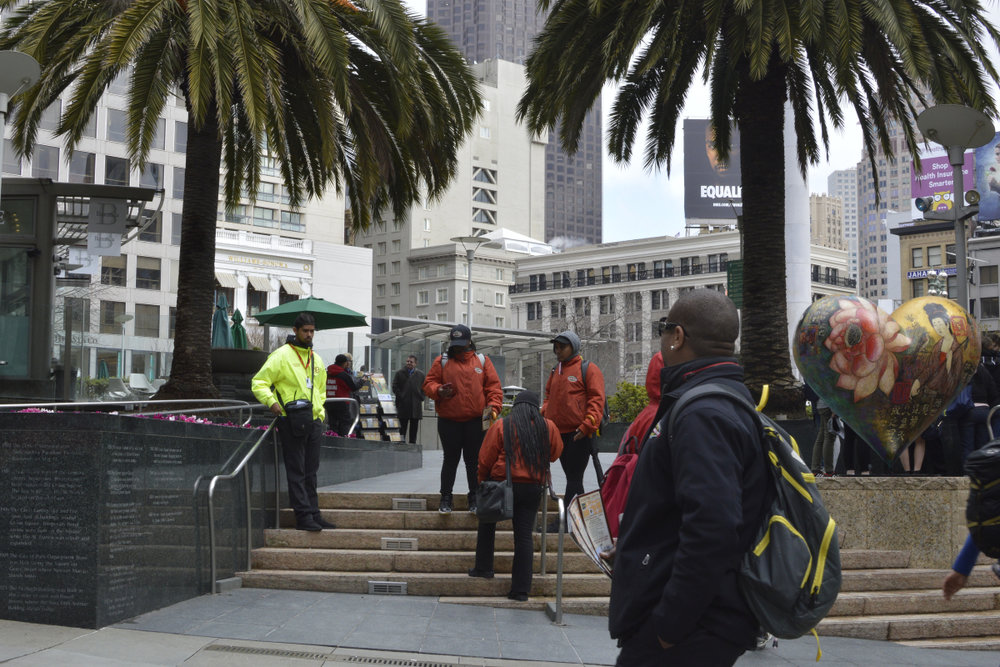 Tour guides in San Francisco waiting for business - March2017