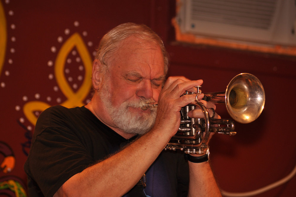 Tony Pringle, cornet and leader, New Black Eagle Jazz Band