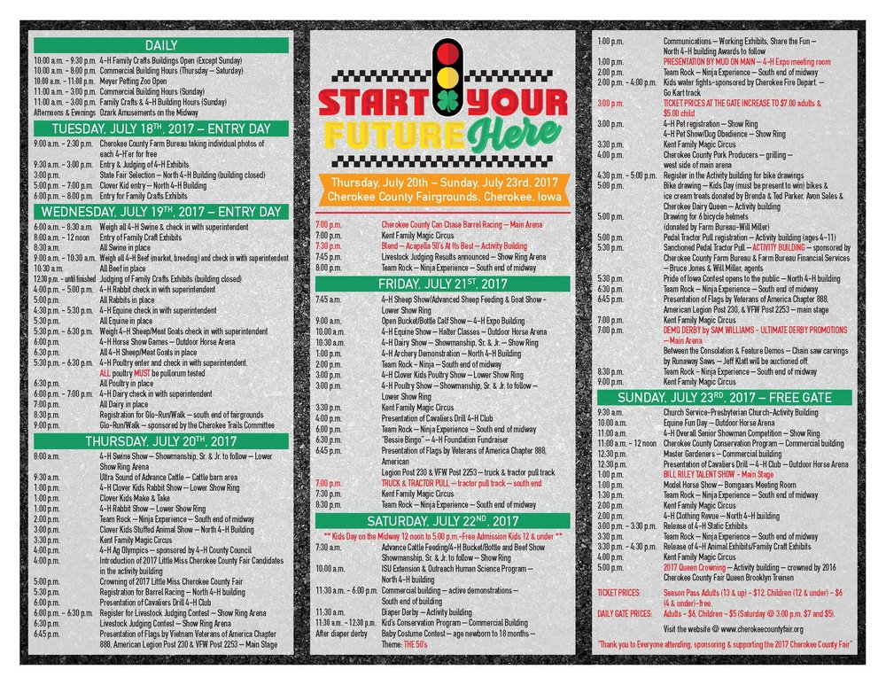 2017 Fair Brochure - with daily events and full schedule
