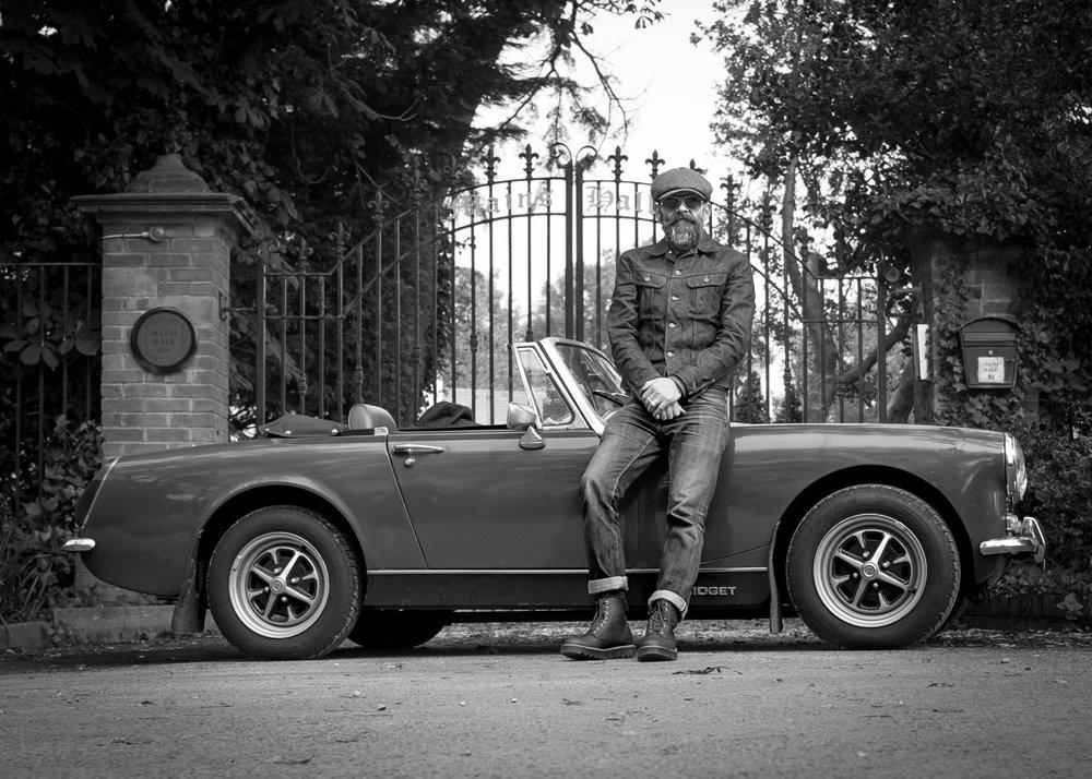 Tony and his 1972 MG Midget