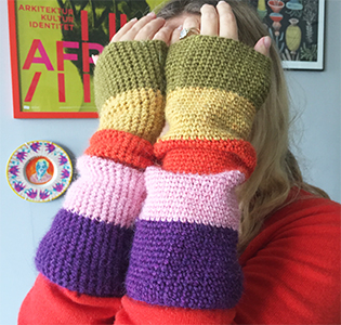 Striped Armwarmers