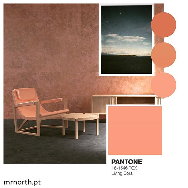 Our Casis #loungechair in the  #amazing colour of the year 2019 #livingcoral . . #mrnorth #furniture #design #madeinportugal #inspiration #trend #happynewyear2019 #pantone2019
