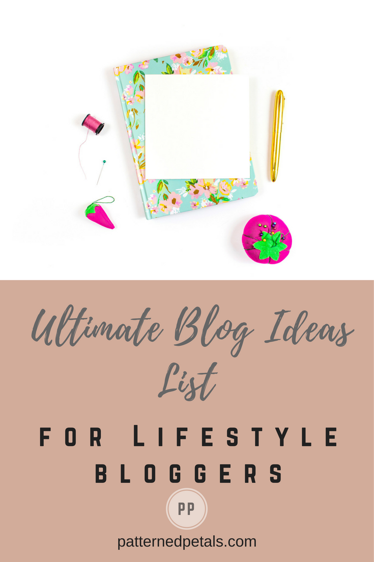 ultimate list for lifestyle bloggers