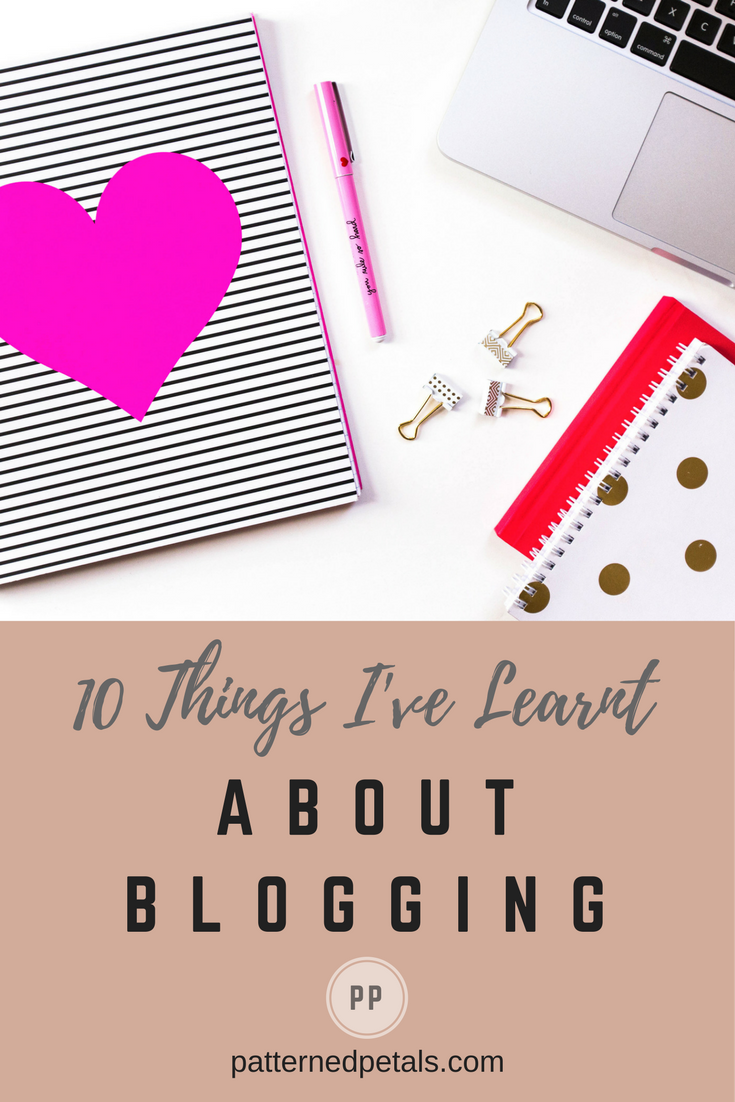 learnt about blogging