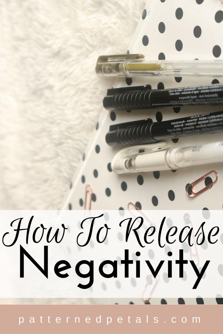 how to release negatvity