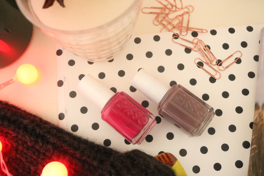 essie nail varnish flatlay