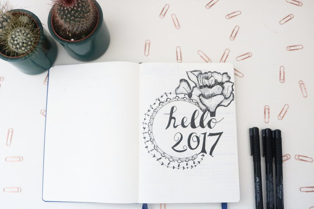 bullet journal page