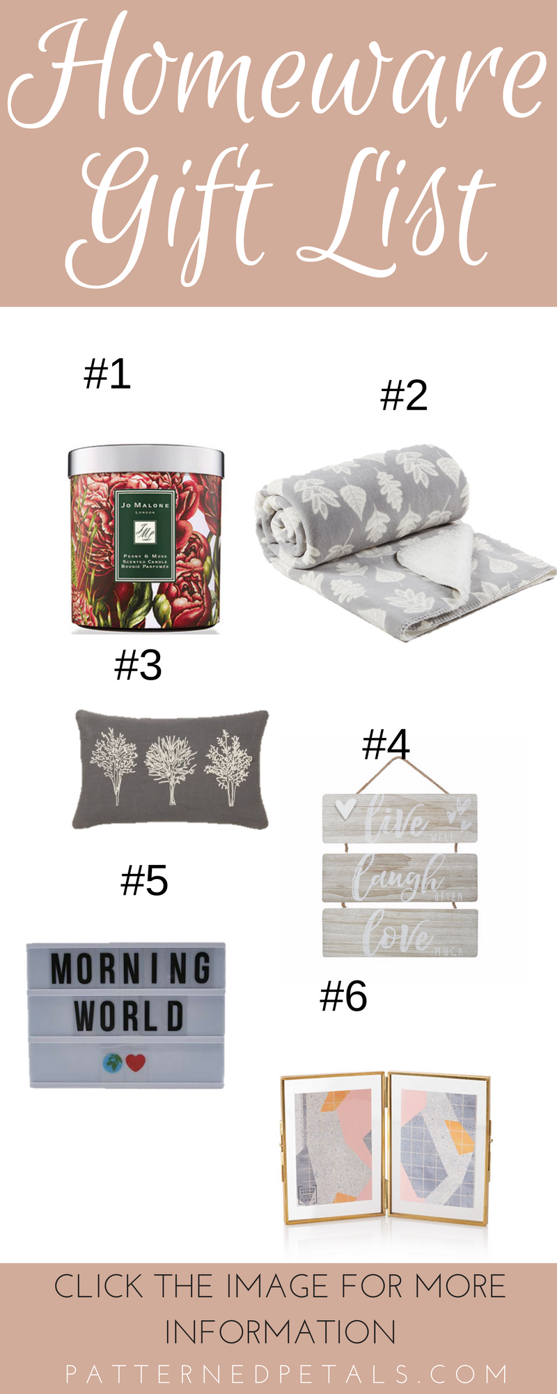 homeware gift list