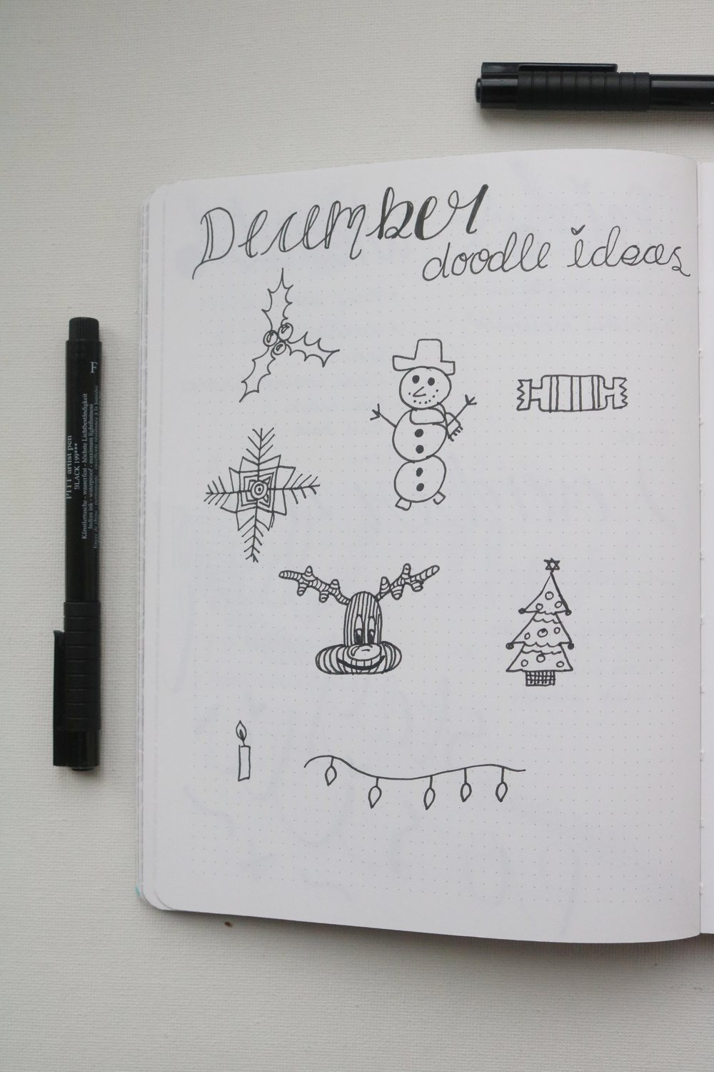 Doodle Page - I decided to have a doodle page this month for some ideas of what Christmassy things I could draw.