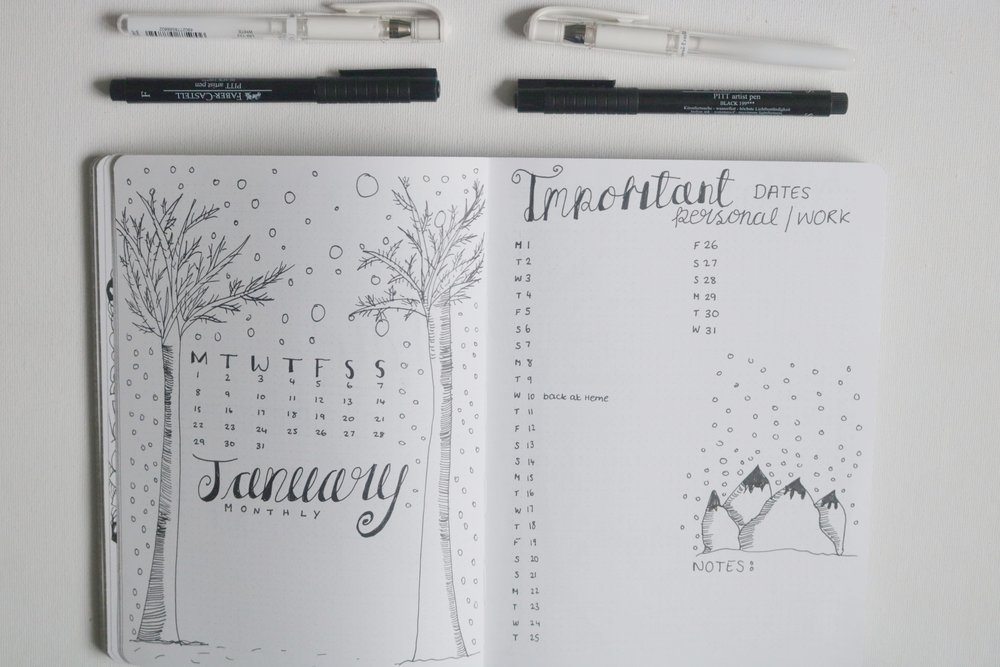 bullet journal jan
