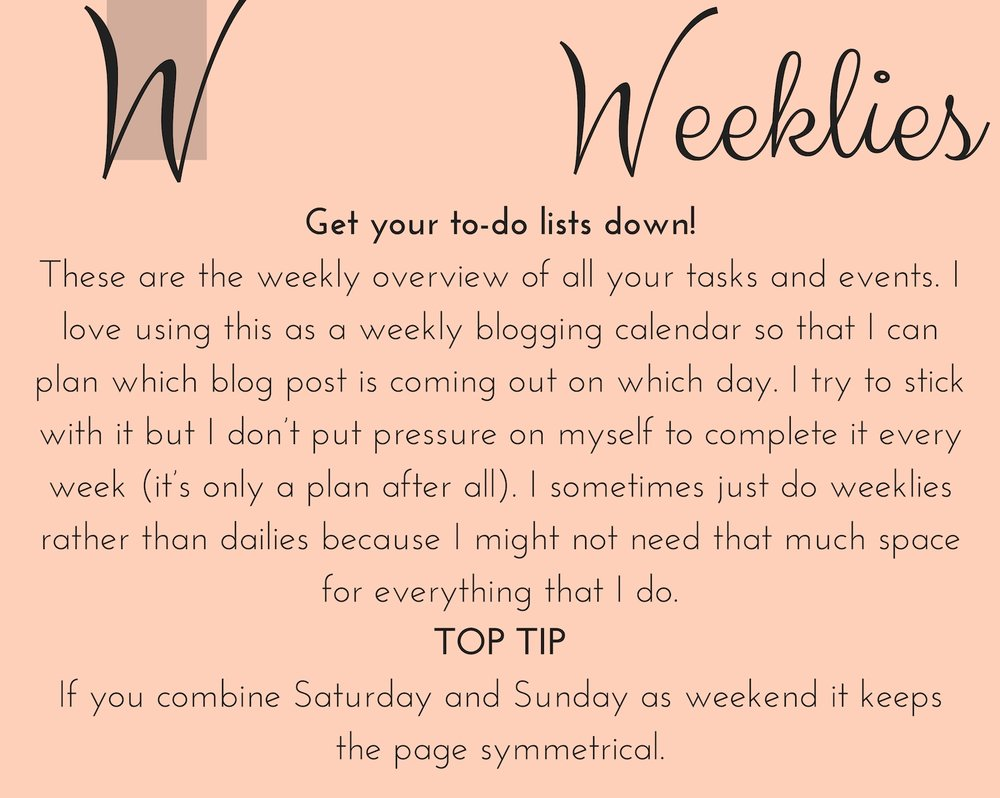 weeklies