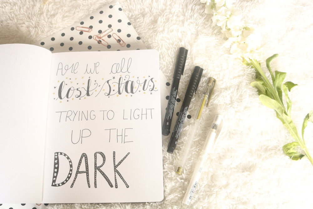 Are We All Lost Stars Trying To Light Up The Dark? quote page explained