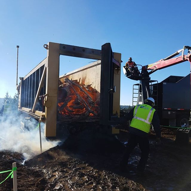 ROI Demo Days were a success! Here are some photos and videos  of the machine in operation.  #biochar