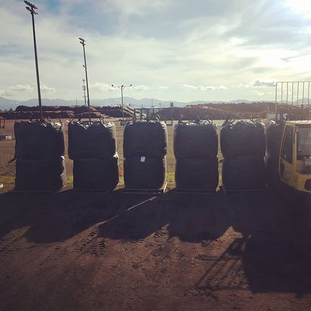 Getting totes ready for the road.  #biochar #hemp #cannabis #carbon #notill #regenerativeagriculture #organic #biomass #southernoregon #livingsoil