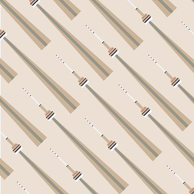 CN tower print #toronto #torontomoji #wrappingpaper #CNtower #pattern