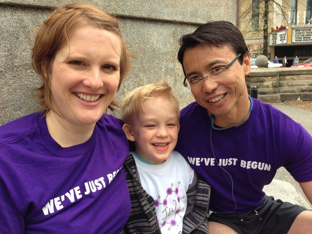 Jill, Jonah, and the astute pediatrician, Dr. Hai Cao, who diagnosed Jonah at 22 months old.