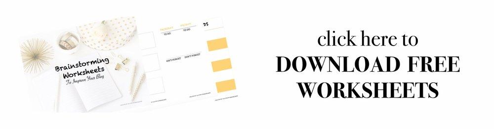 Taja Fox Blog Worksheet Download