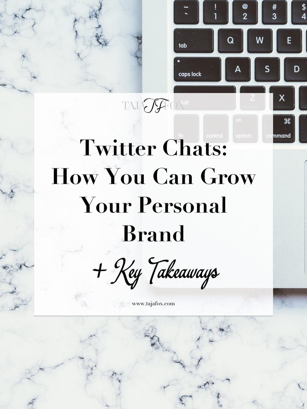 Twitter Chat Tips | Taja Fox
