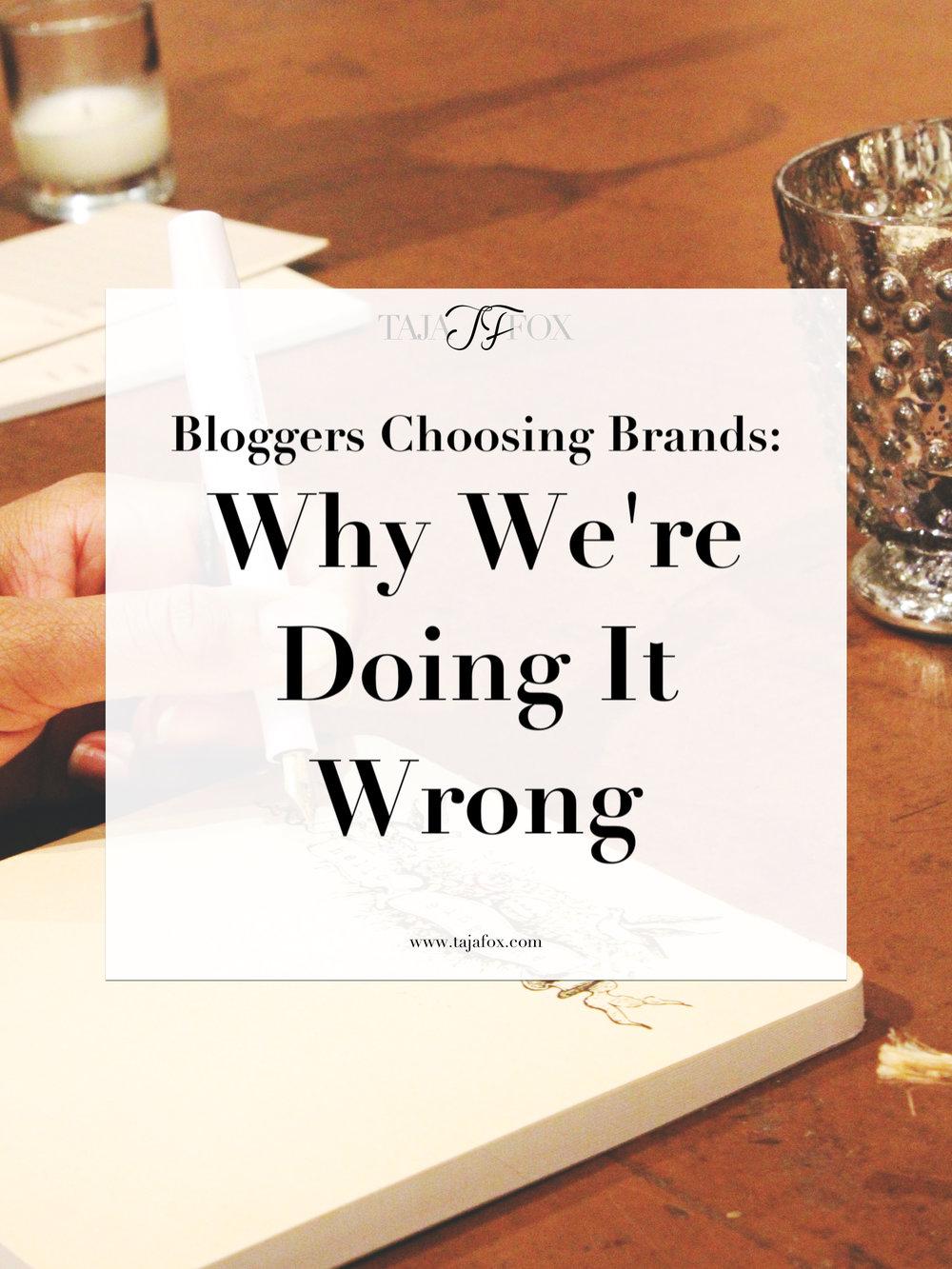 Blogger and Brands | Taja Fox