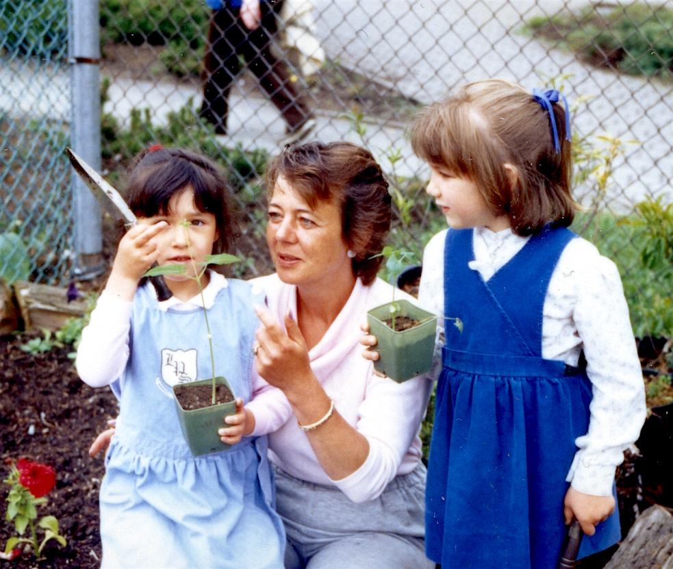 Bev Weber, School Garden