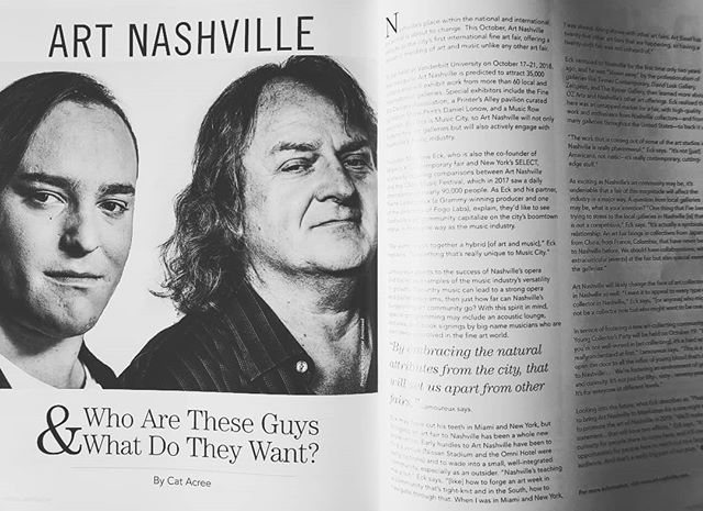 Thank you @nashvillearts for the editorial. We are honored to be included in this final issue.  Special thank you to Hunter Armistead for the beautiful portrait! . . . #art #artfair #international #applicationsopen #artgalleries #galleries #opencall #nashville #tennessee #contemporary #tradeshow #production #curator #nyc #lifestyle #decor #highart #painting #sculpture #installation #performance #artcollector #collections #collectors #luxury #design #artnashville