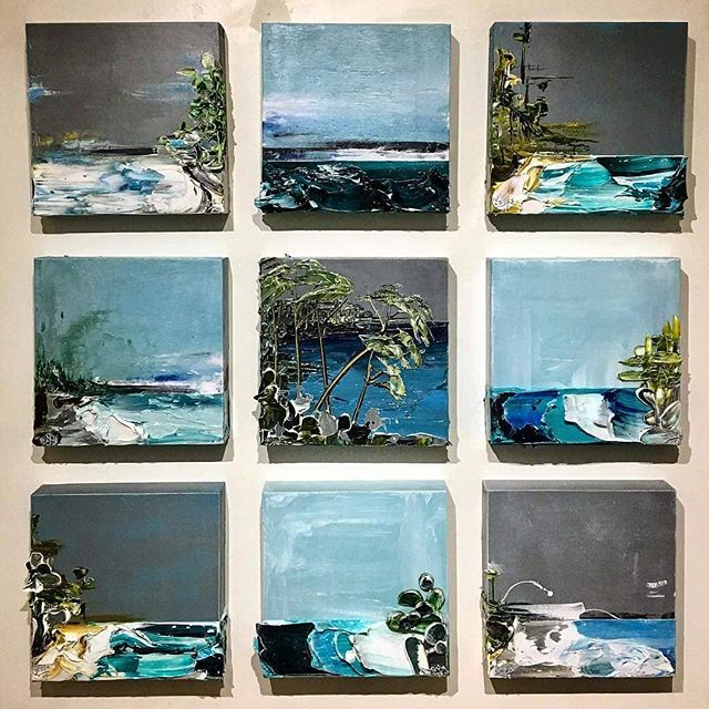 Coastal Impressions Grid of nine, 12x12 paintings Acrylic on wood panels Justin Gaffrey 2018 . . . . .#art #artfair #international #applicationsopen #artgalleries #galleries #opencall #nashville #tennessee #contemporary #tradeshow #production #curator #nyc #lifestyle #decor #highart #painting #sculpture #installation #performance #artcollector #collections #collectors #luxury #design #artnashville