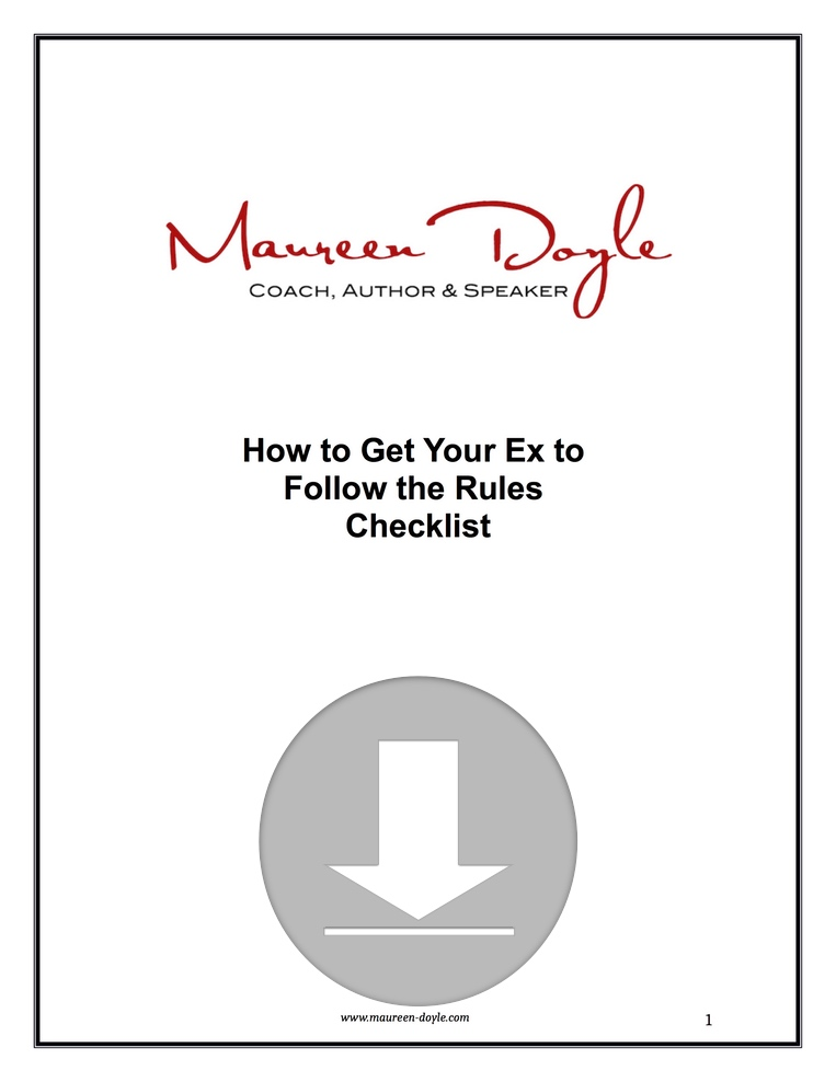 How to Get Your Ex to Follow the Rules Checklist